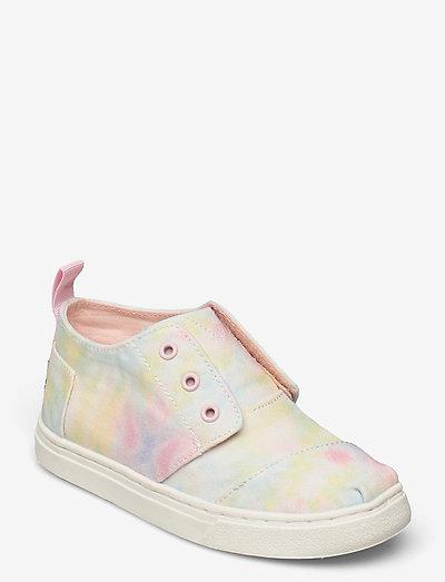 White  Tie Dye Canvas - låga sneakers - white