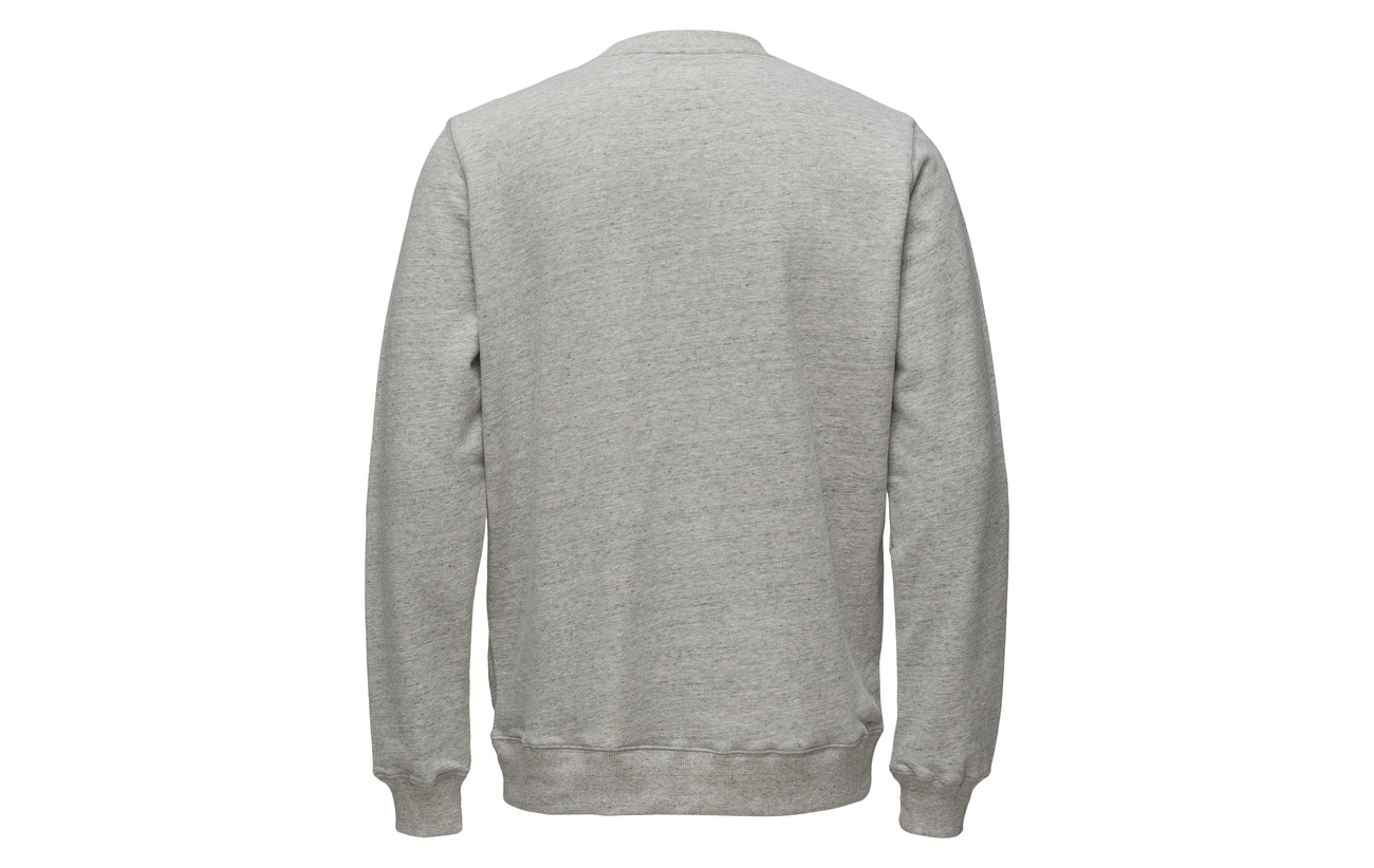 On Tonsure Chenille With Of Grey Liberty Crewneck Teddy Melange Sweatshirt Statue rWzHcXBz0