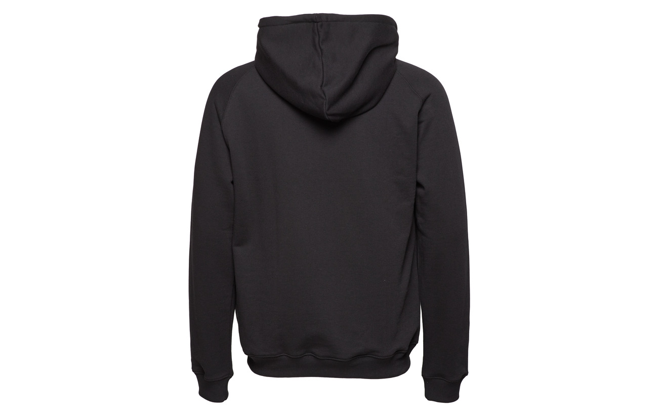 Embroidery Tonsure With Rope Hoodie Sweatshirt Black xIPOA0qw