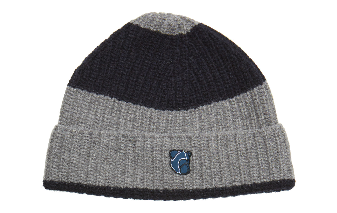 Beanie Logodark With NavyGrey StripesTonsure Teddy A354jLR