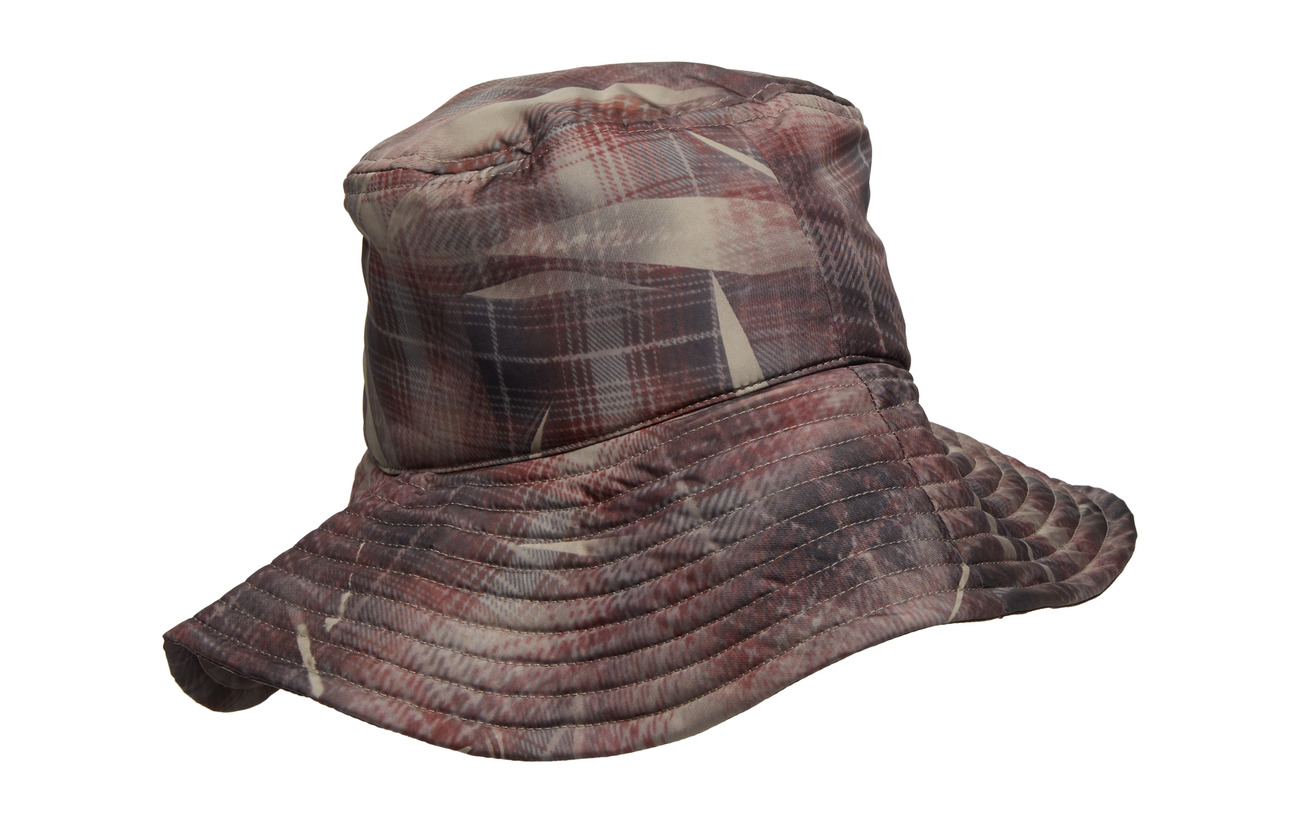 PrintTonsure Logcrunched Bucket Hat Elastic Detail Cord Check With Reflective And Teddy LUMzqSGVp