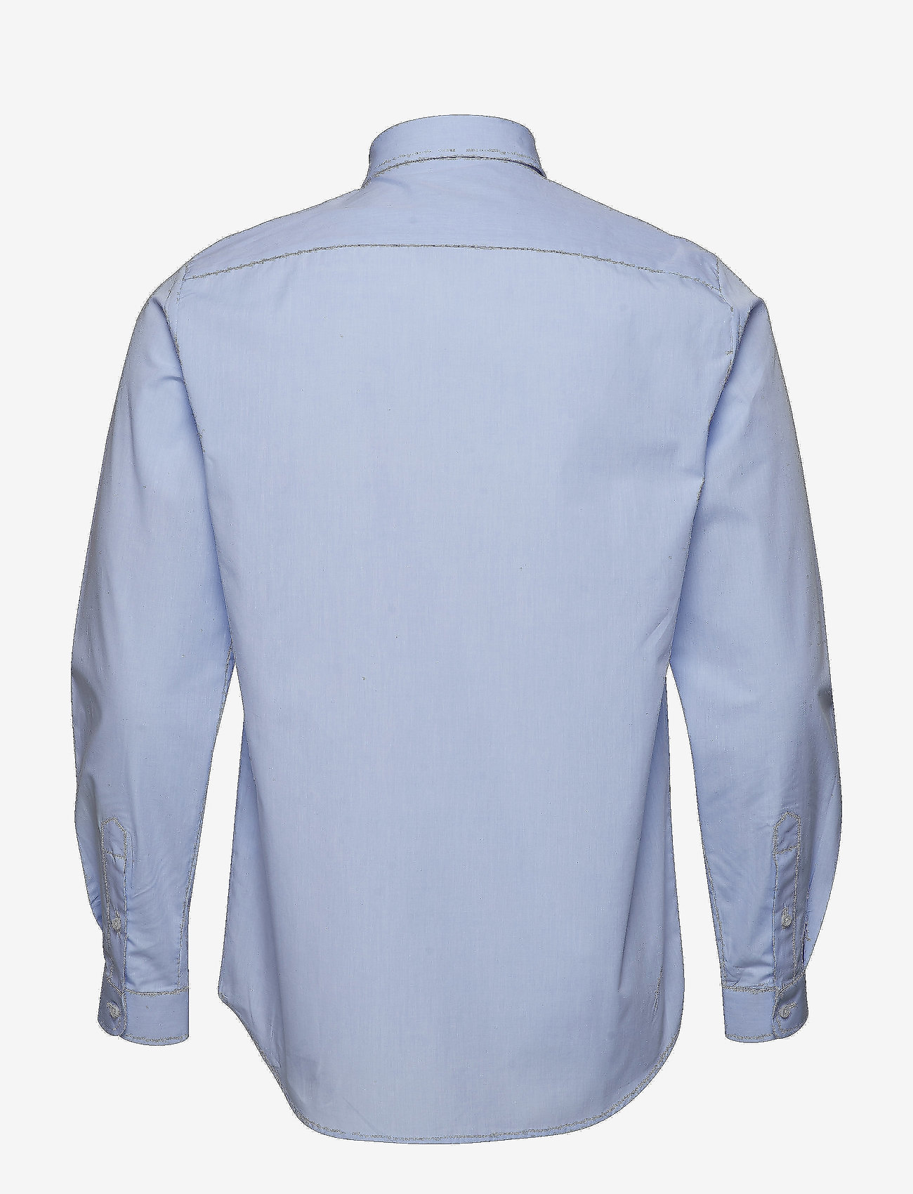 Tonsure - Regular shirt with embroidered logo - business shirts - light blue
