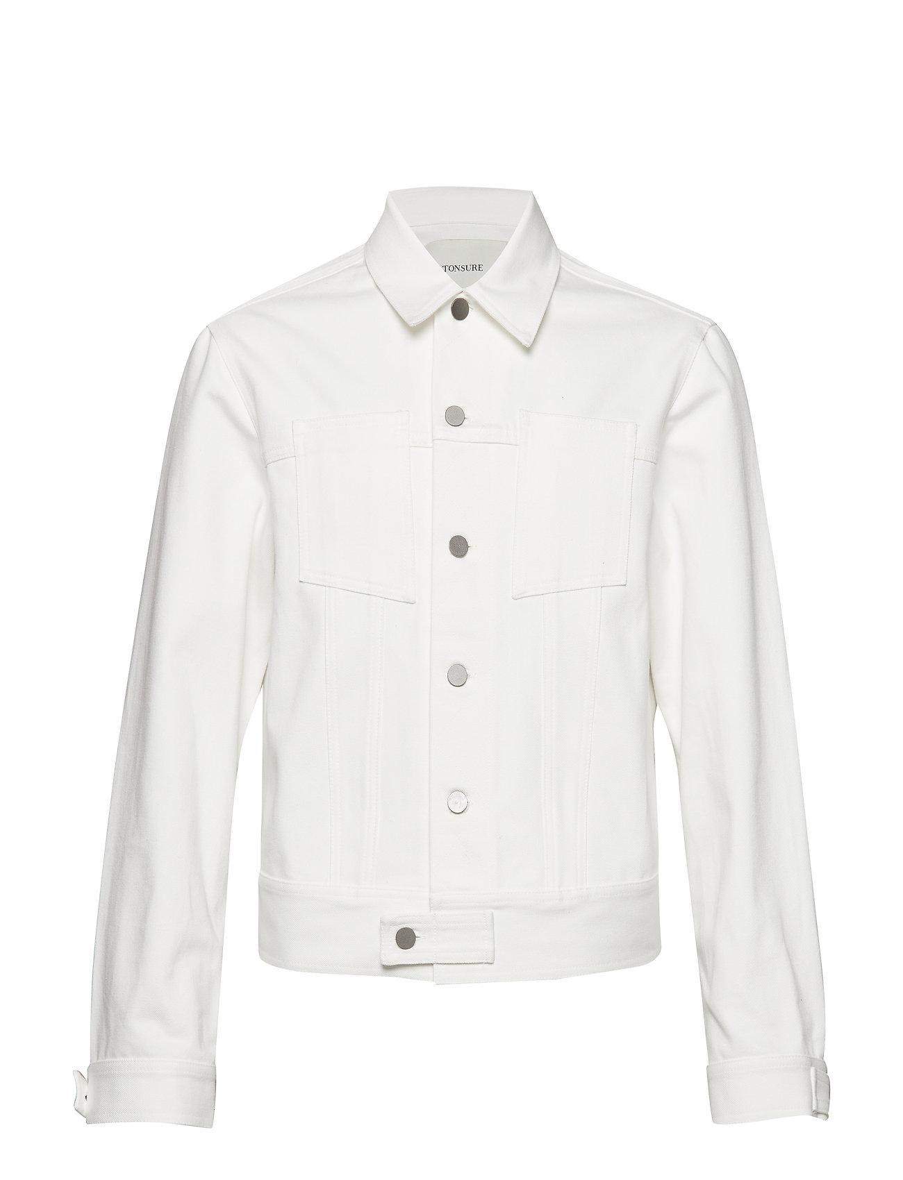 Tonsure Denim Jacket - WHITE