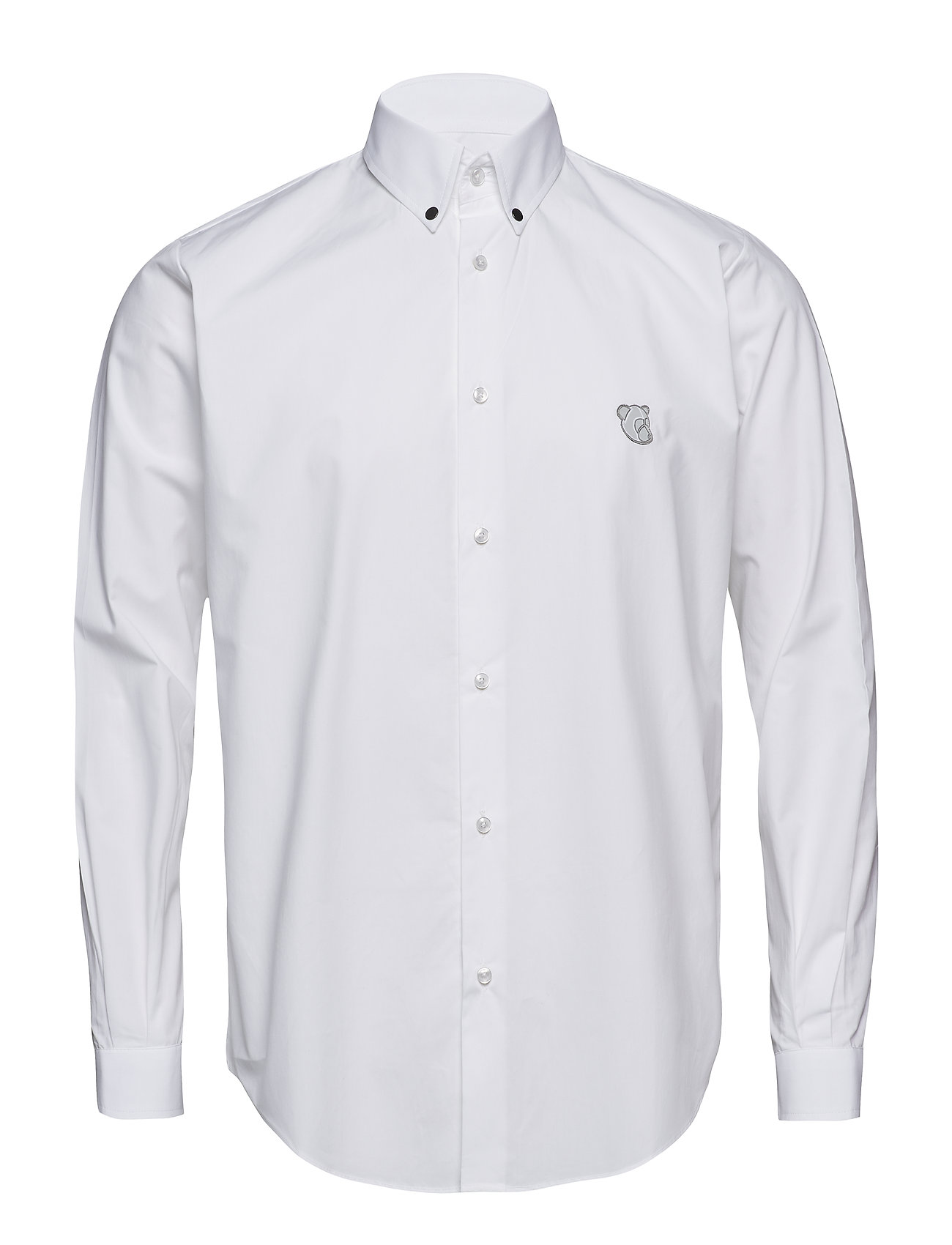 Tonsure Regular Fit SHIRT WITH TEDDY LOGO. - WHITE