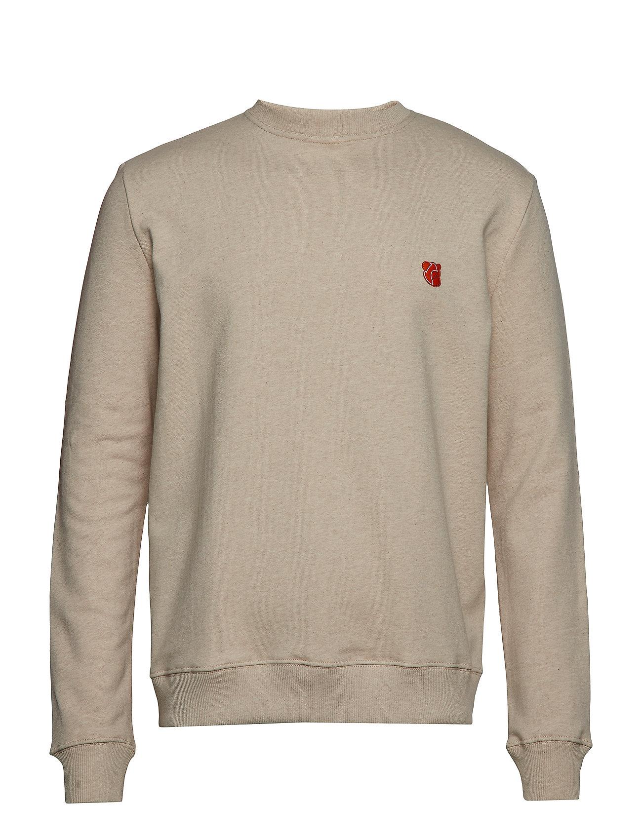 Teddy With MelangeTonsure Embroidered Logobeige Sweatshirt WDbHE2I9eY