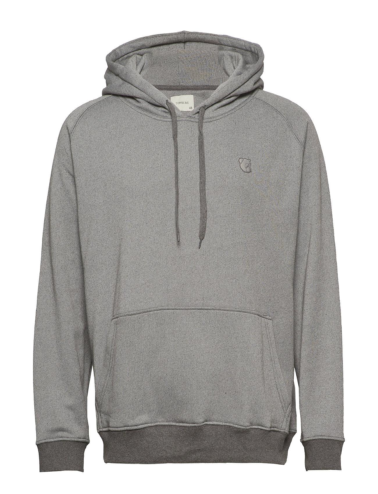 Tonsure Hoodie Sweatshirt - GREY MELANGE