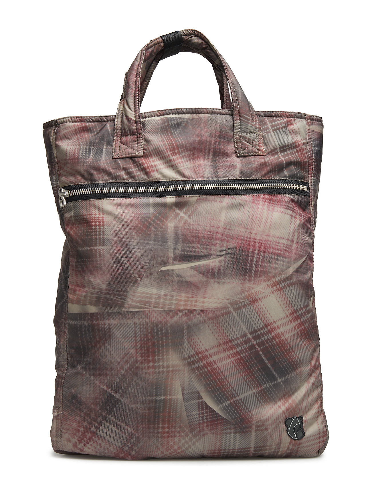 Tonsure Tote bag - CRUNCHED CHECK PRINT