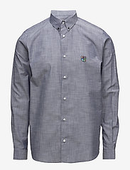 Tonsure - Regular shirt with embroidered logo - chemises business - chambray - 0