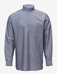 Tonsure - Collar stand shirt with zipper detail - chemises business - chambray - 0