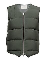 Down vest - GREEN OLIVE