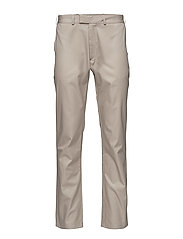 Regular fit trousers with zipper detail - BEIGE