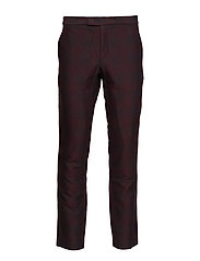 Slim fit trousers with inside leg - BLACK/REDISH CHECK