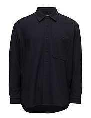 Oversize shirt - DARK NAVY JACQUARD