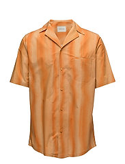 Bowling Shirt - ORANGE STRIPE