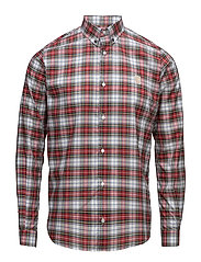 Regular shirt with embroidered logo - RED/ WHITE/ GREEN/ BLUE CHECK
