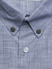 Tonsure - Regular shirt with embroidered logo - chemises business - chambray - 2