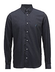 Regular Fit SHIRT WITH TEDDY LOGO. - DARK INDIGO