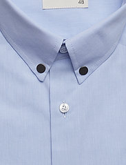 Tonsure - Regular shirt with embroidered logo - business shirts - light blue - 2