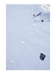 Tonsure - Regular shirt with embroidered logo - business shirts - light blue - 3