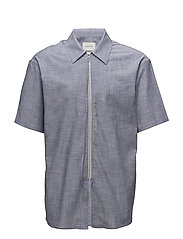 Short sleeve shirt with zipper - CHAMBRAY