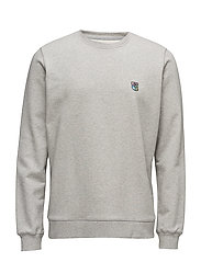 Sweatshirt with embroidered teddy logo - GREY MéLANGE