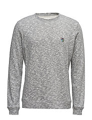 Sweatshirt with embroidered teddy logo - GREY/WHITE