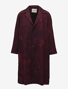 Oversize Trenchcoat - RED PRINT