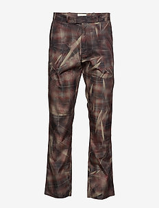 Regular fit trousers - CRUNCHED CHECK PRINT