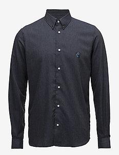 Regular Fit SHIRT WITH TEDDY LOGO. - chemises d'affaires - dark indigo