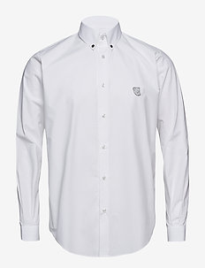 Regular Fit SHIRT WITH TEDDY LOGO. - WHITE