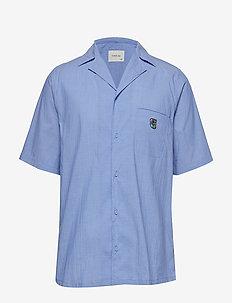 Bowling short sleeve shirt - BLUE SEERSUCKER
