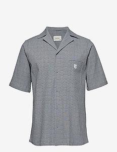 Bowling short sleeve shirt - BLUE/ WHITE CHECK