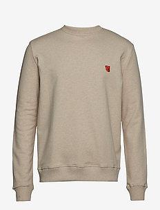 Sweatshirt with embroidered teddy logo - BEIGE MELANGE
