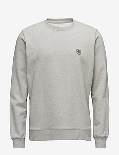 Sweatshirt with embroidered teddy logo - GREY MELANGE