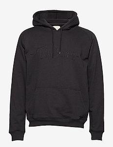 Hoodie sweatshirt with TONSURE rope embroidery. - BLACK