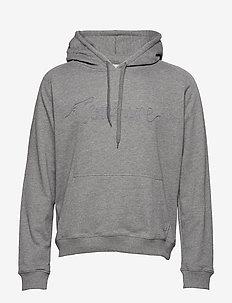 Hoodie sweatshirt with TONSURE rope embroidery. - GREY MELANGE
