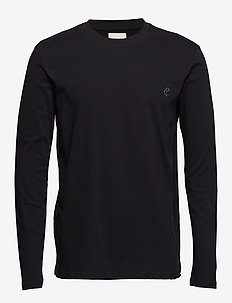 Long sleeve jersey tee - BLACK