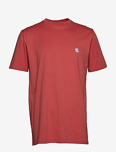 Tee with embroidered teddy logo - FADED RED