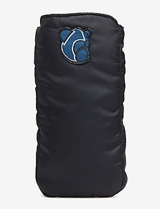 Pouch with reflective elastic cord detaill and Teddy logo - DARK NAVY