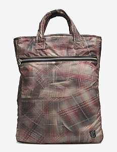 Tote bag - CRUNCHED CHECK PRINT