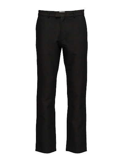 Regular fit trousers with zipper detail - BLACK/ GREENISH CHECK