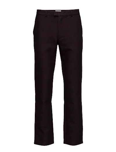 Regular fit trousers with zipper detail - BLACK/REDISH CHECK