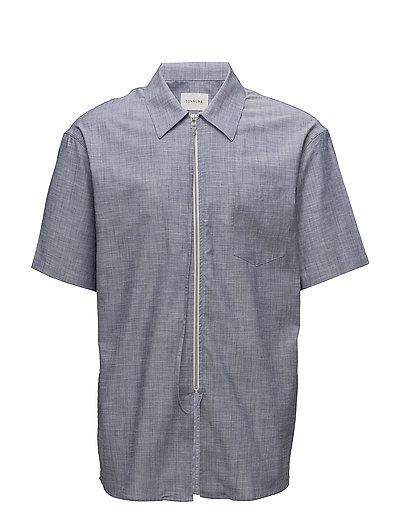 Short sleeve shirt with zipper - CHAMBRAY