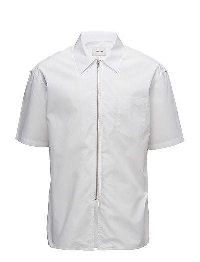 Short sleeve shirt with zipper - WHITE