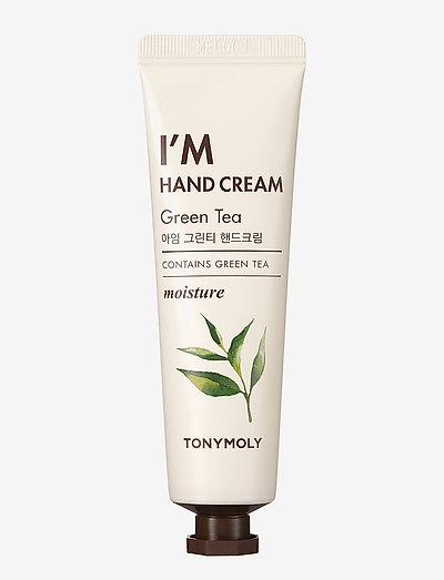 Tonymoly I'm Hand Cream Green Tea 30ml - håndkrem & fotkrem - clear