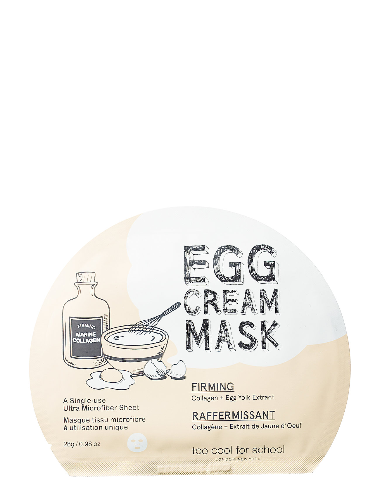 Too Cool For School Too Cool For School Egg Cream Mask Firming - CLEAR