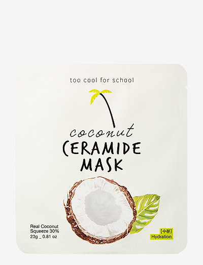 Too Cool For School Coconut Ceramide Mask - sheet mask - clear