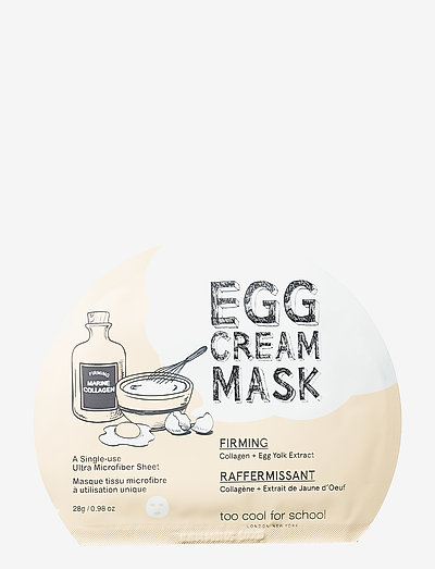 Too Cool For School Egg Cream Mask Firming - sheet mask - clear
