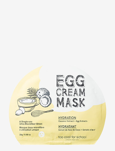 Too Cool For School Egg Cream Mask Hydration - sheet mask - clear
