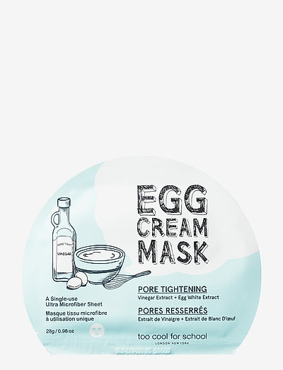Too Cool For School Egg Cream Mask Pore Tightening - sheet mask - clear